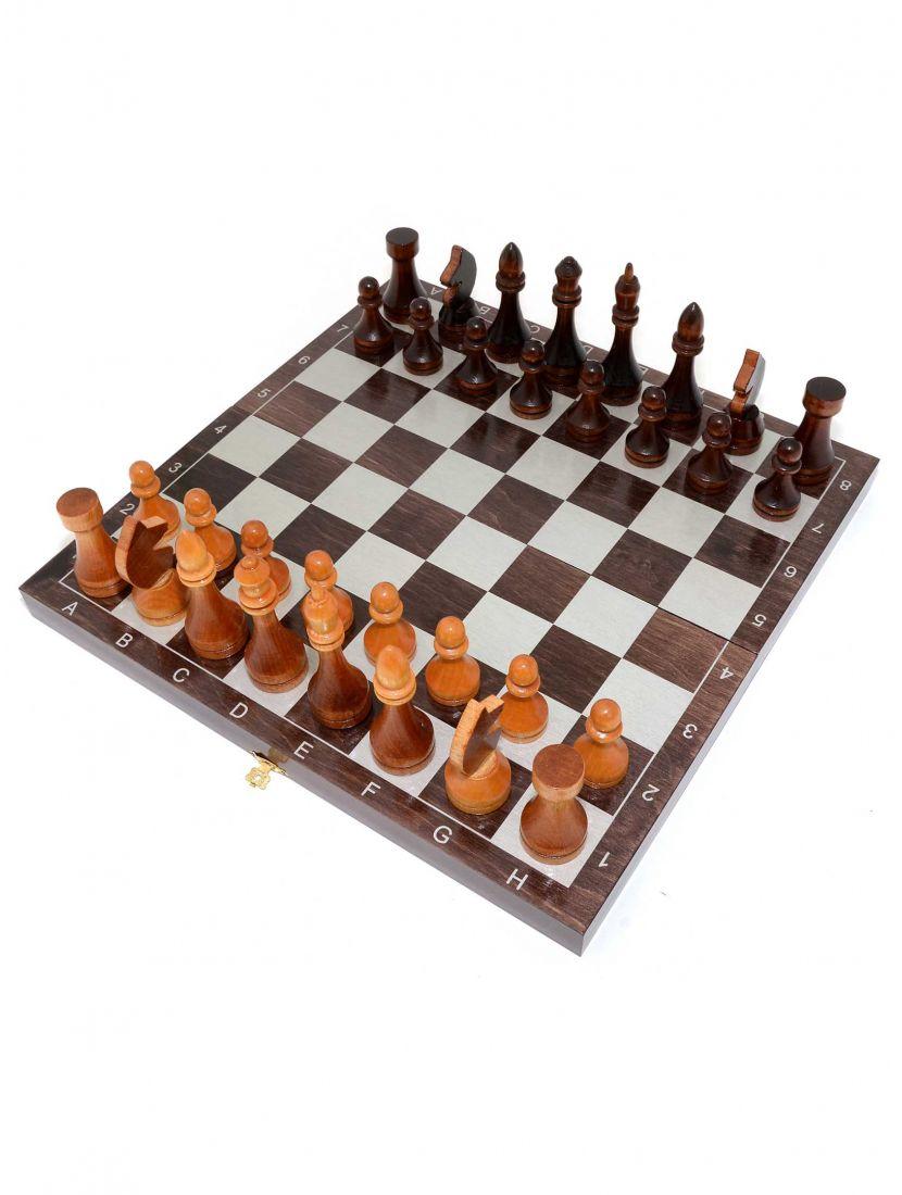 Шахматы «Гроссмейстерские-серебро» тонированные