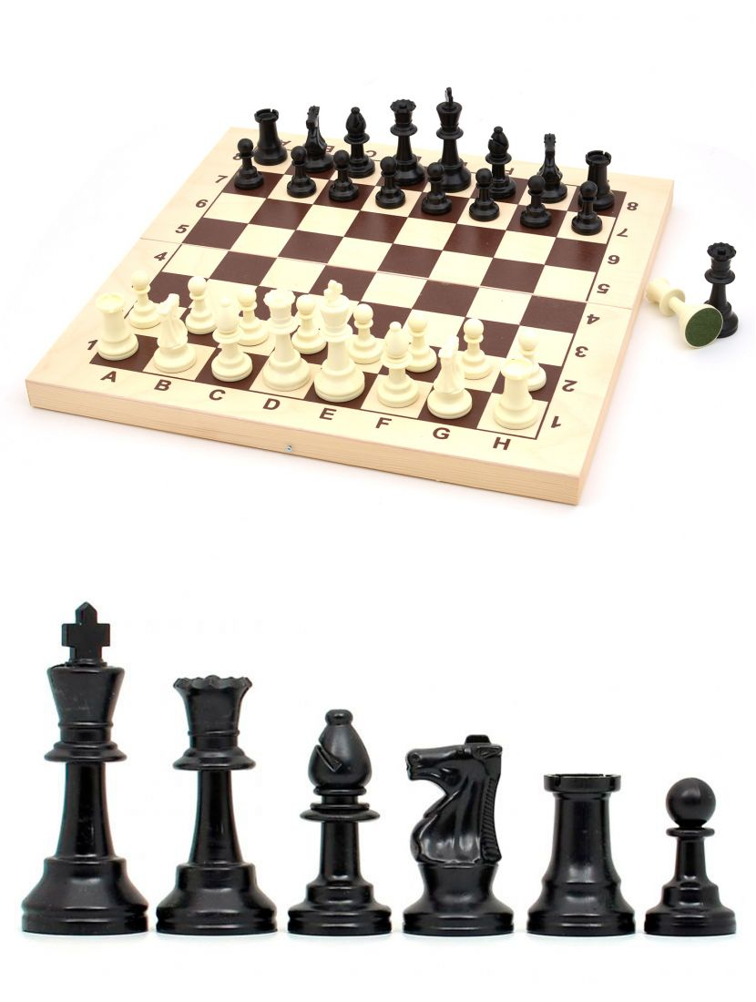 Шахматы «Стаунтон» пластиковые фигуры люкс