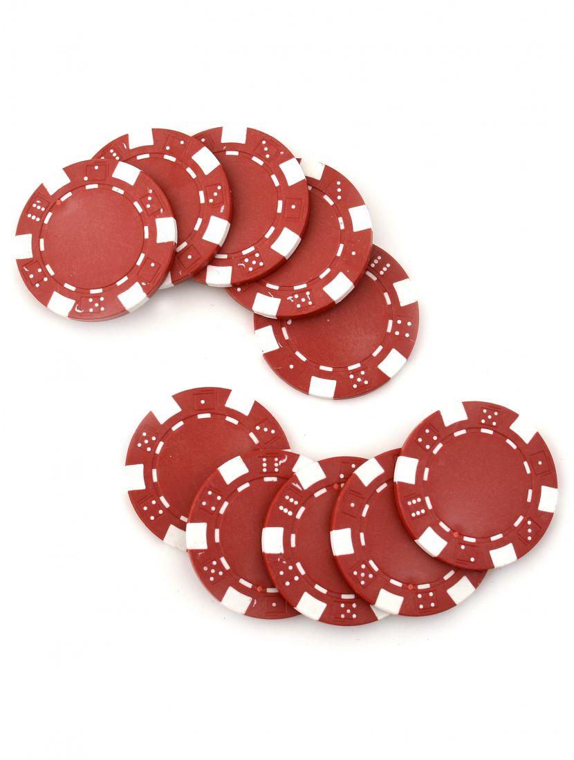 Фишки для покера «Hasard» без номинала красные