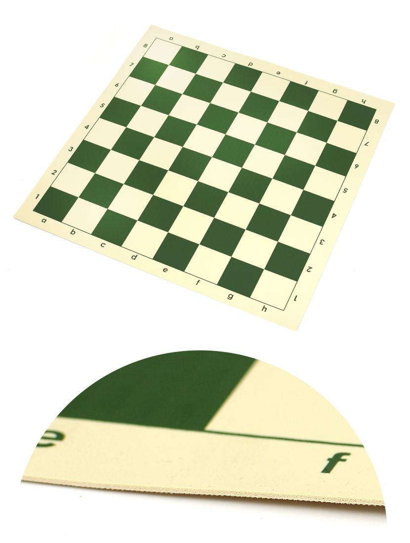 Шахматная доска «Виниловая» зелёно-белая 50 x 50 см