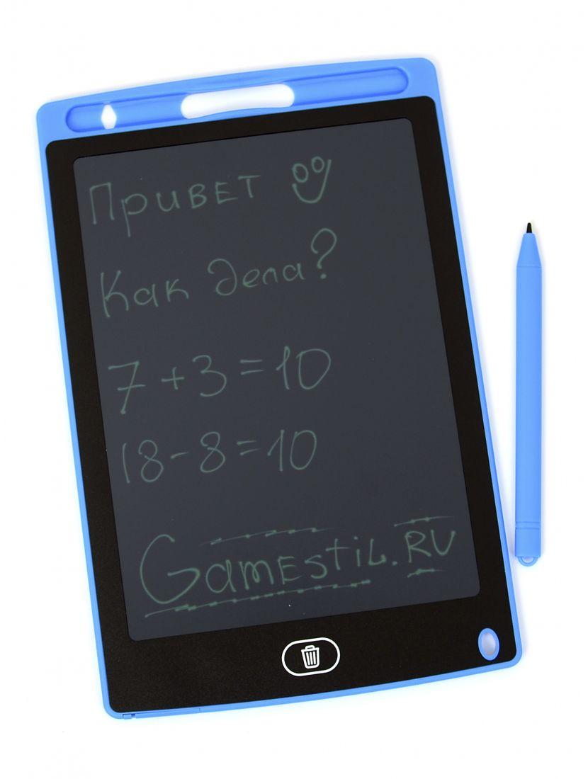 Графический планшет для рисования 8.5 дюйма, электронный голубой