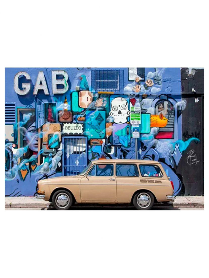 Деревянный пазл «Стрит - арт и автомобиль»