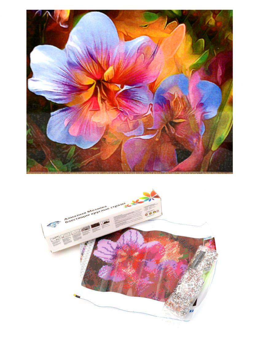 Алмазная мозаика «Радужные цветы»
