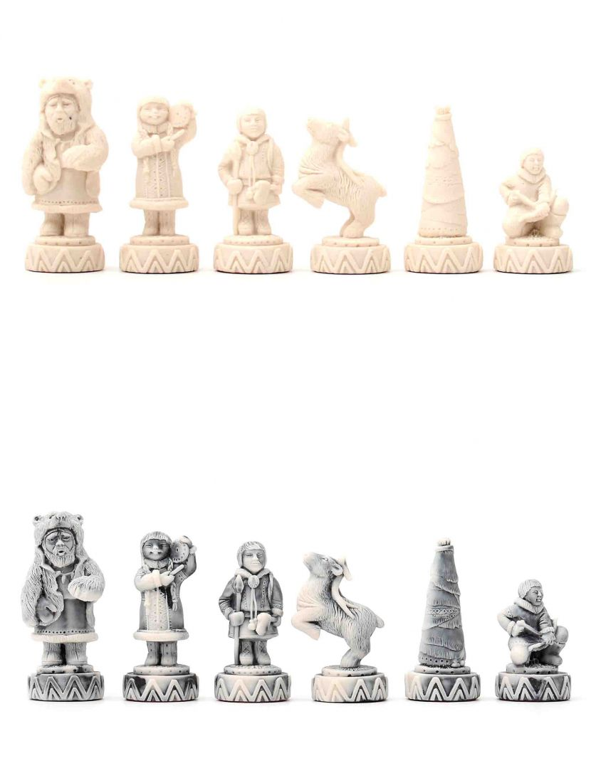 Шахматные фигуры «Северные народы» каменные