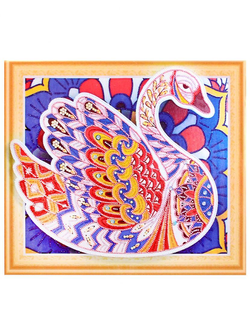 Алмазная мозаика на подрамнике «Лебедь»