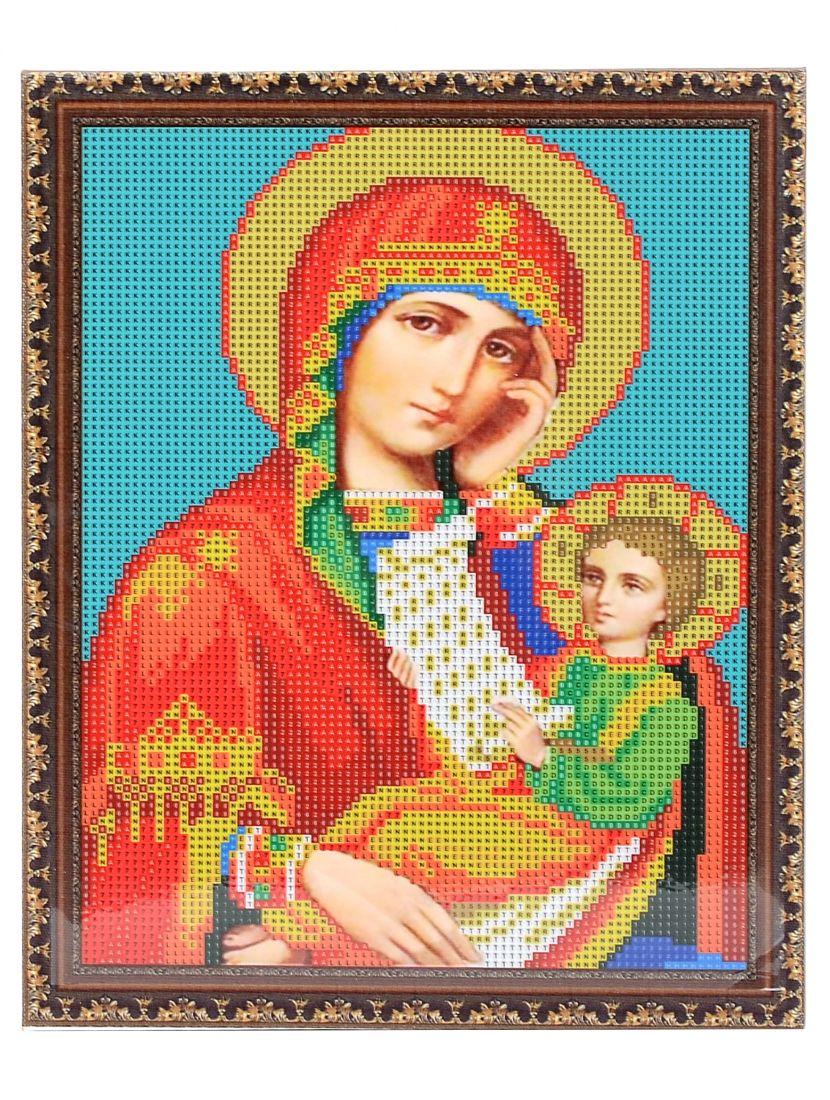 Алмазная мозаика на подрамнике «Божией Матери. Утоли Моя Печали» икона