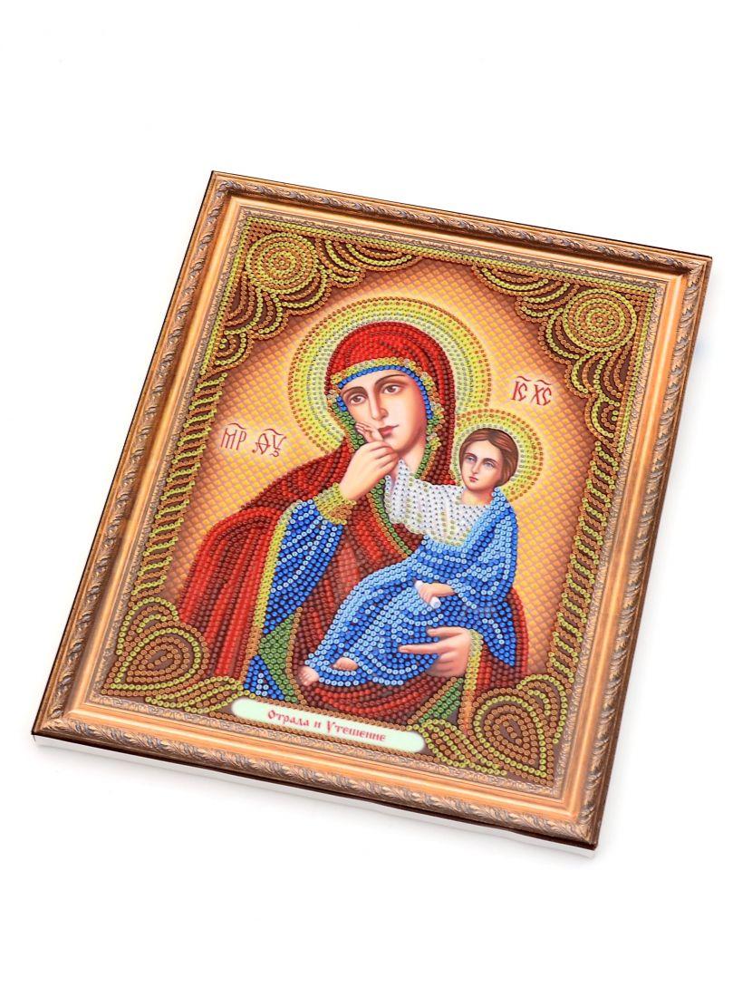 Алмазная мозаика на подрамнике «Божией Матери Отрада и Утешение» икона