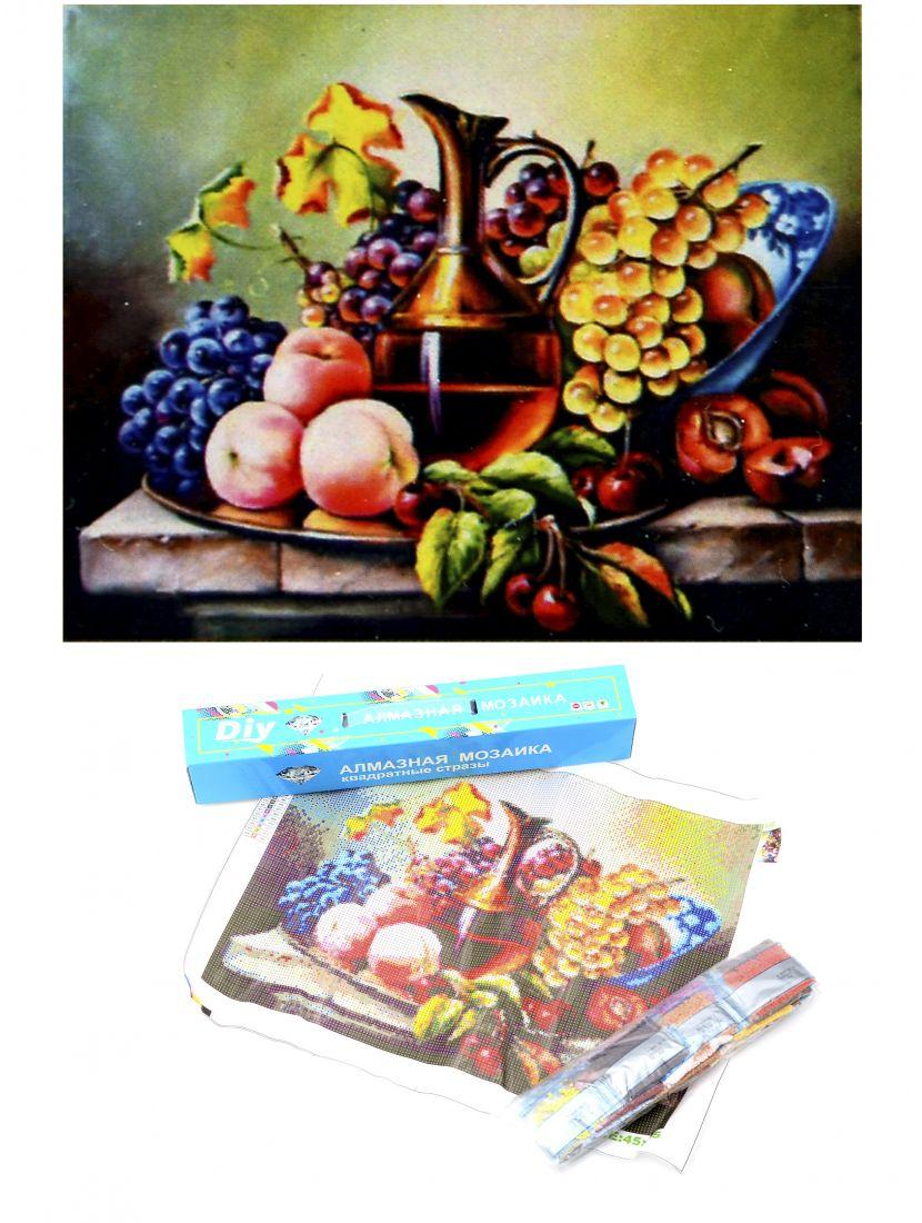 Алмазная мозаика «Вино и фрукты»