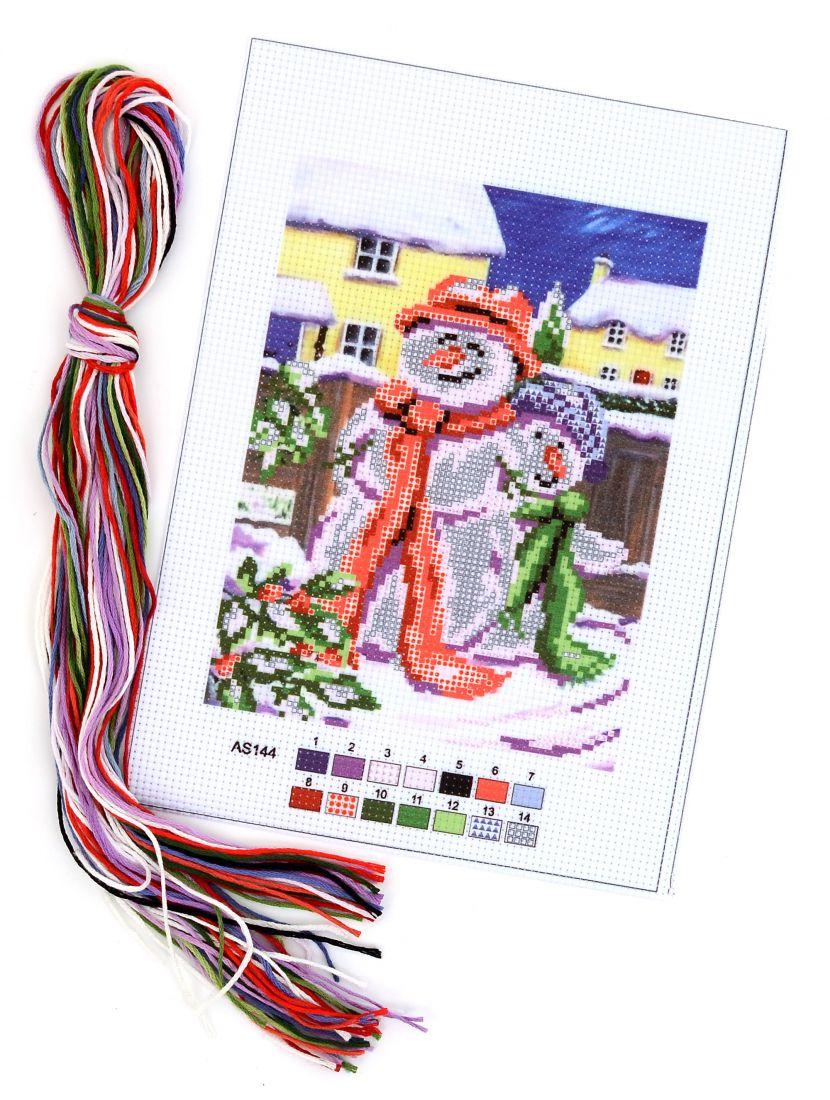 Набор для вышивания крестом «Компания снеговиков»