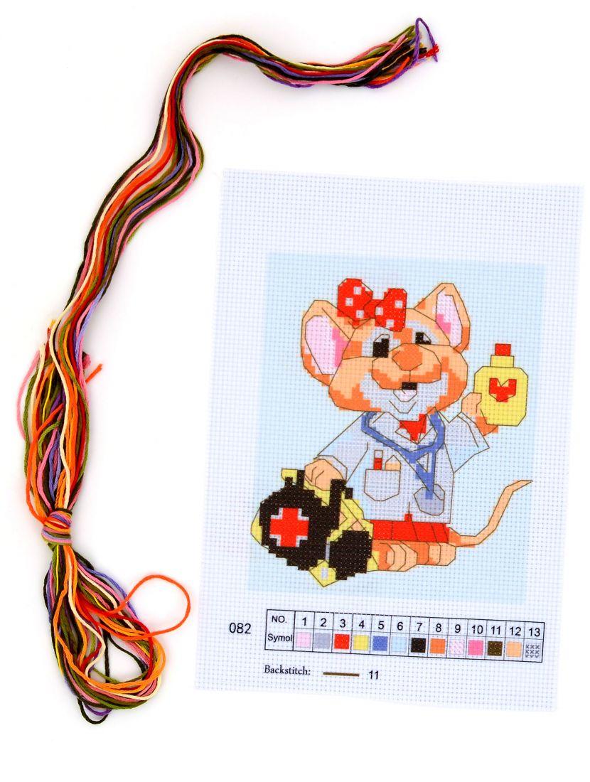 Набор для вышивания крестом «Мышка - врач»