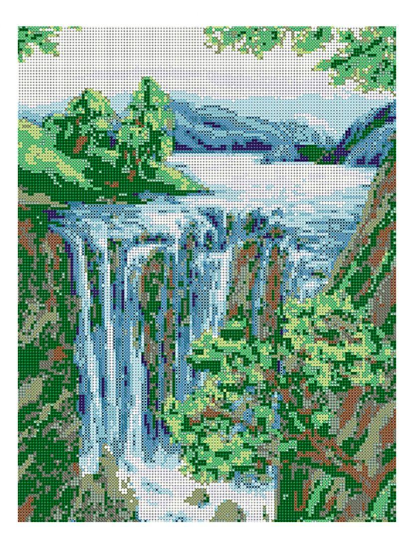 Схема для вышивания бисером «Водопад»
