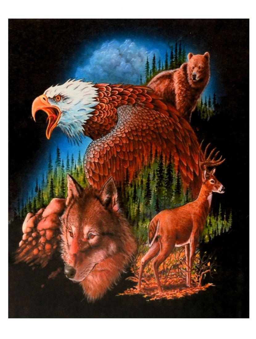 Картина по номерам  на подрамнике «Звери Йеллоустона»