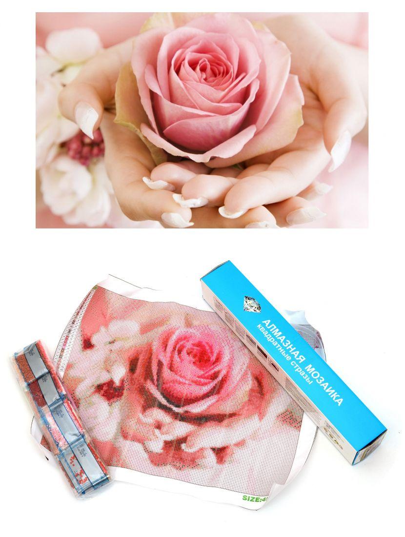 Алмазная мозаика «Розовая роза»