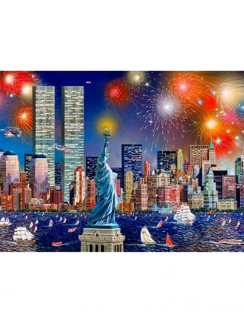 Алмазная мозаика на подрамнике «Праздник над Нью-Йорком»