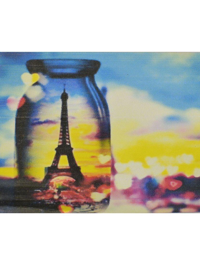 Алмазная мозаика «Эйфелева башня сквозь стекло»