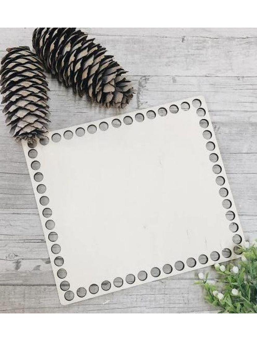 Донышко для вязания «Прямоугольник» деревянное, 18*16 см