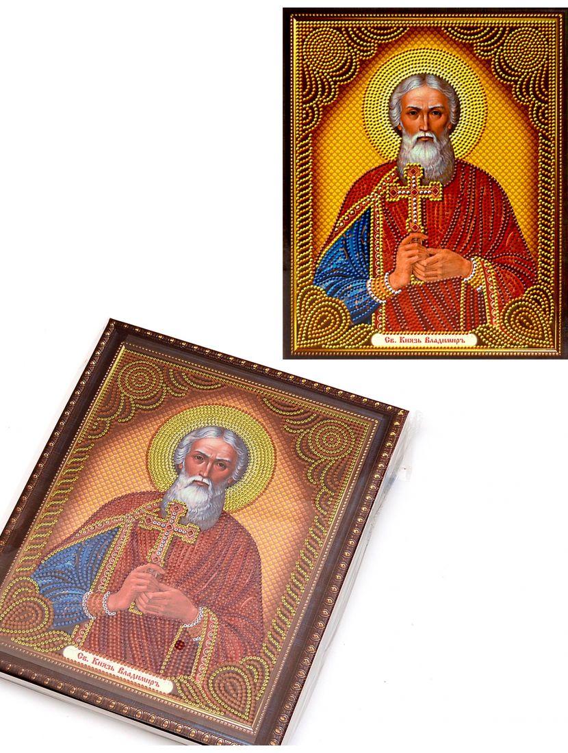Алмазная мозаика на подрамнике «Святой Князь Владимир» икона