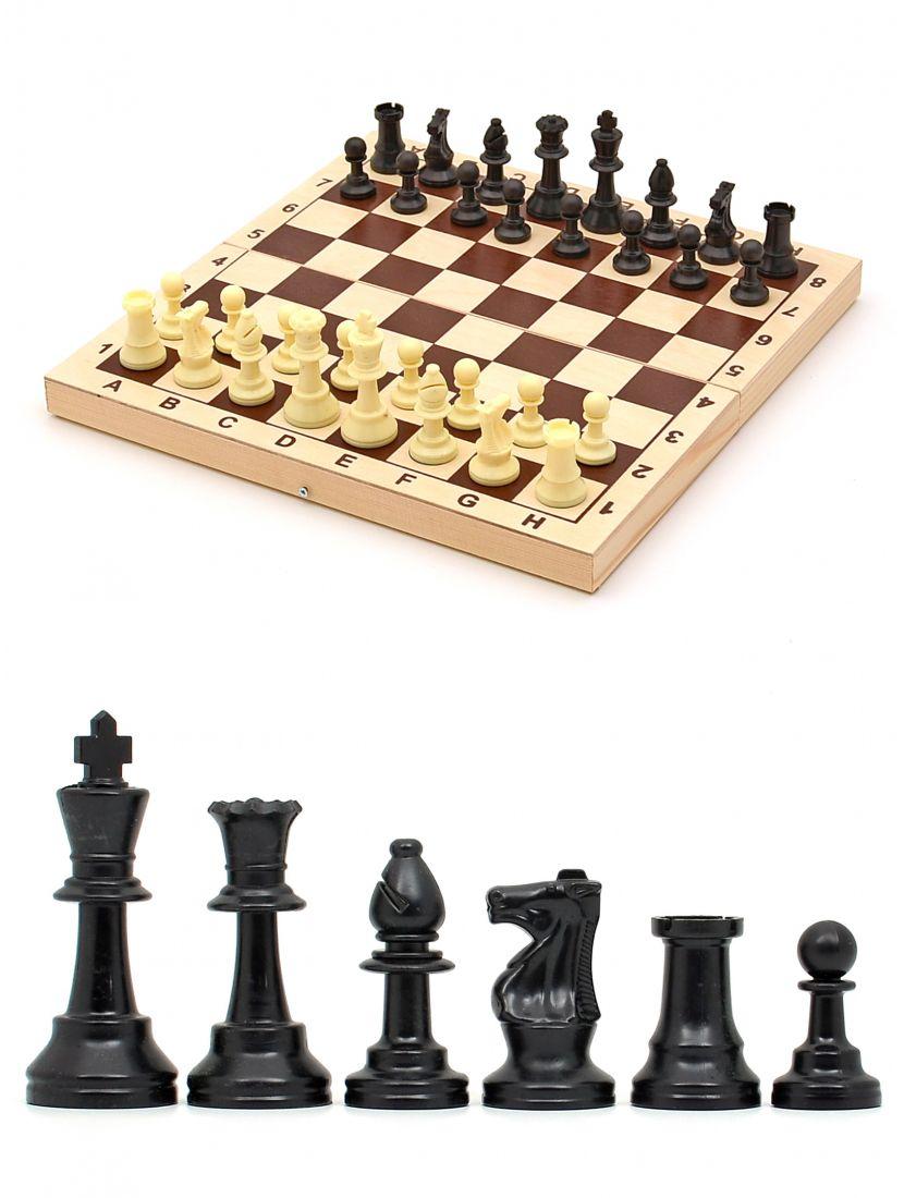 Шахматы «Владимирские малые» фигуры пластиковые люкс