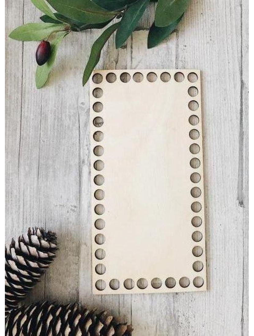 Донышко для вязания «Прямоугольник 20» деревянное, 20*10 см