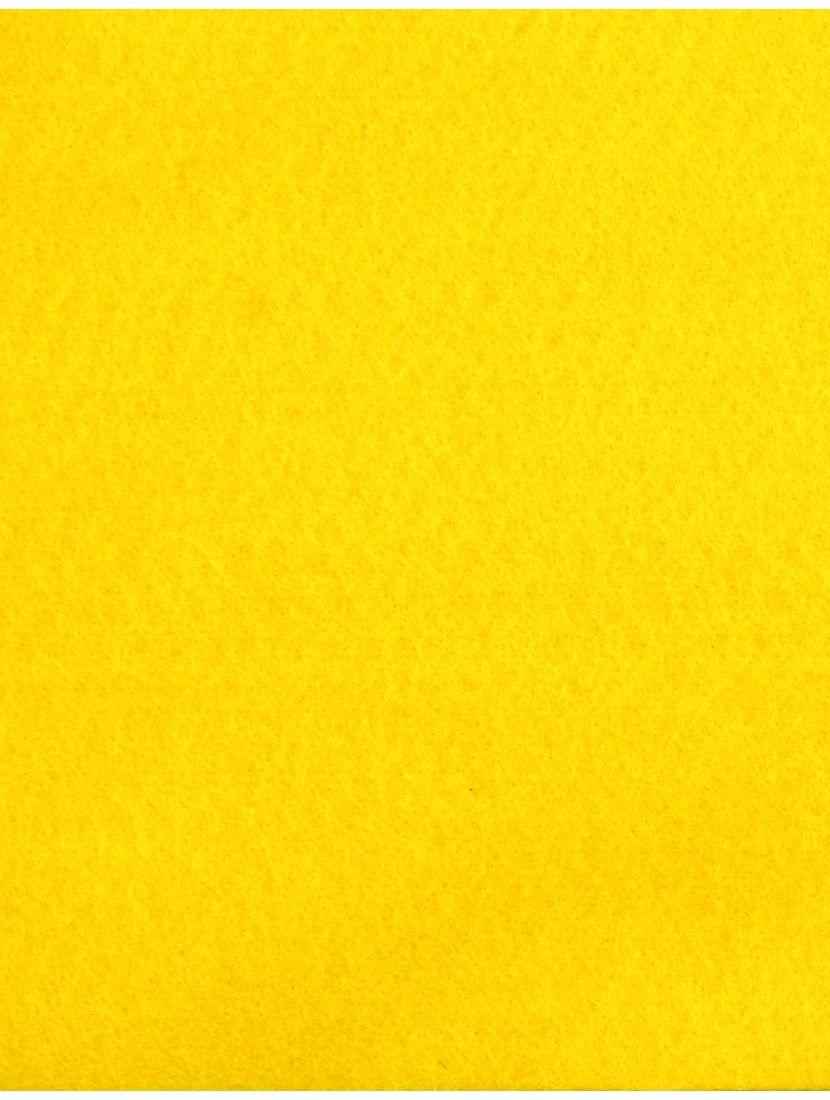 Фетр мягкий «Жёлтый - 1602» 1 мм, 30*20 см