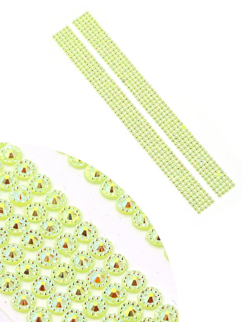 Стразы для рукоделия «Алмазная лента зелёная» самоклеющиеся
