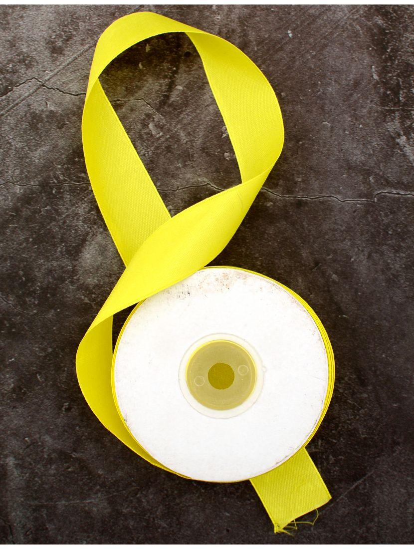 Лента атласная 26 мм жёлтая 25,4 м