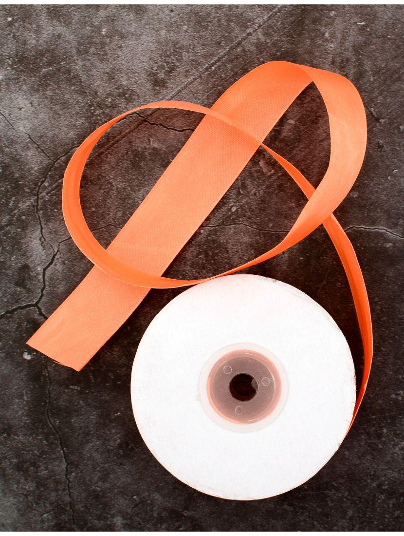 Лента атласная 26 мм оранжевая 25,4 м