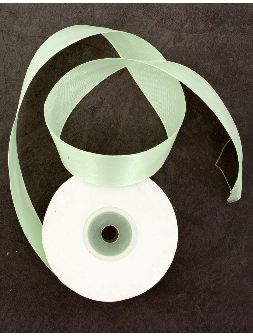 Лента атласная 26 мм светло-зелёная 25,4 м