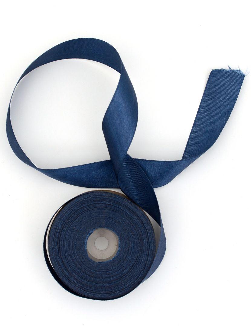 Лента атласная 26 мм синяя 25,4 м