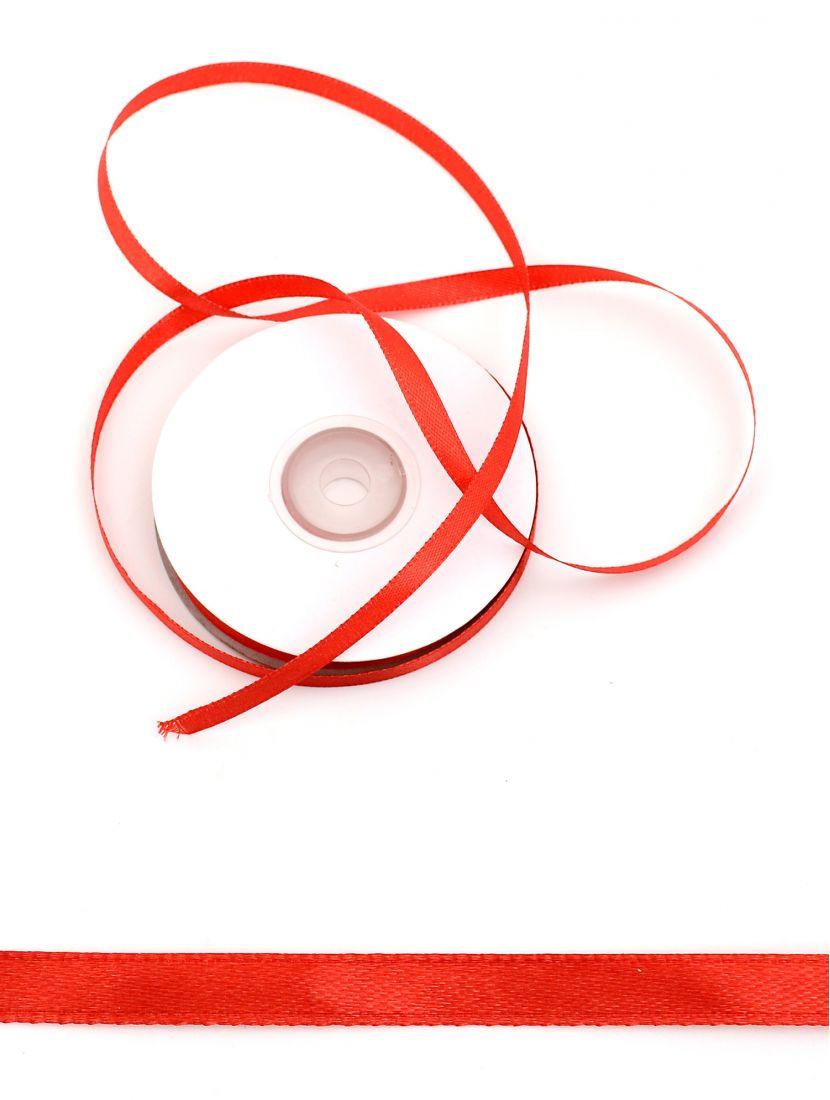 Лента атласная 6 мм красная 25,4 м