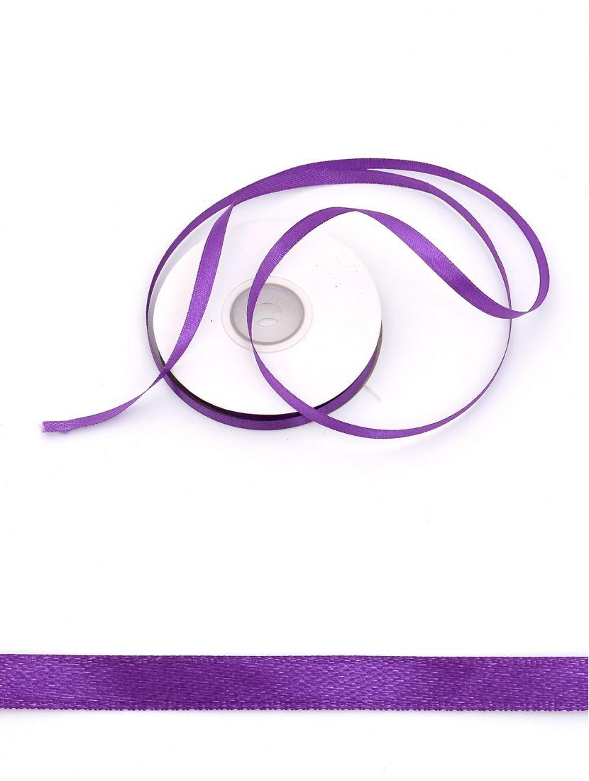 Лента атласная 6 мм фиолетовая 25,4 м