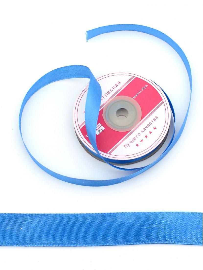 Лента атласная 12 мм синяя 27,4 м