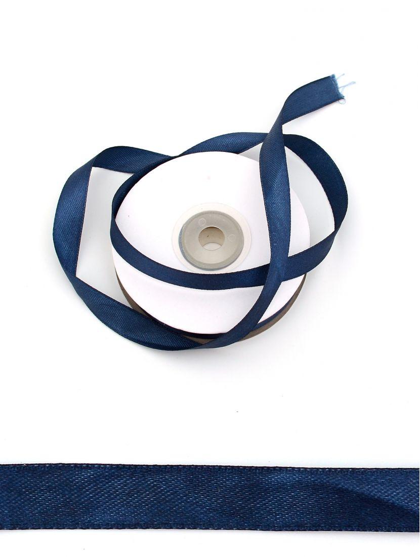 Лента атласная 12 мм синяя 25,4 м