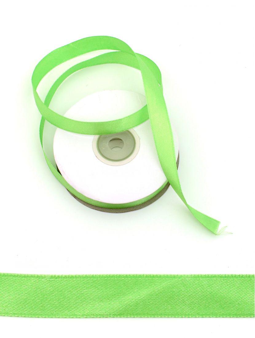 Лента атласная 12 мм светло-зелёная 25,4 м