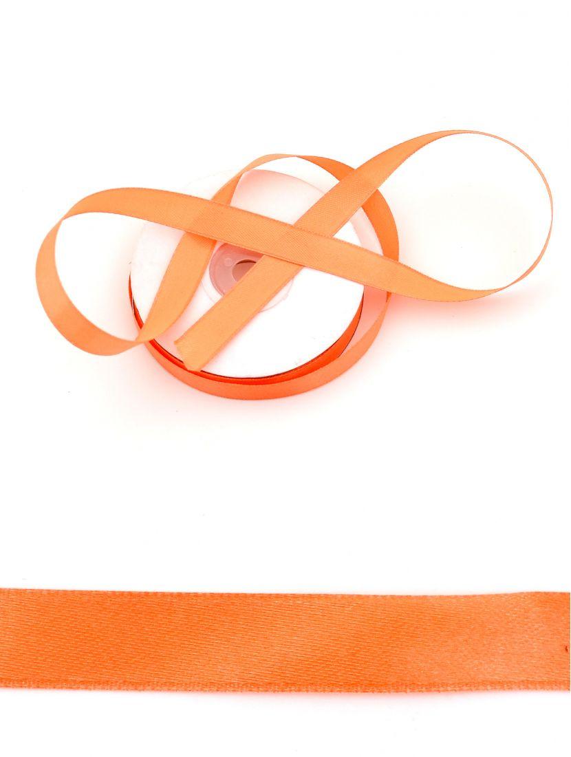 Лента атласная 12 мм оранжевая 25,4 м