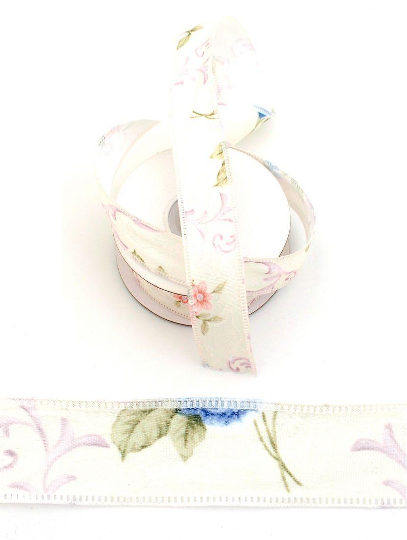 Лента ажурная 25 мм «Волшебные синие цветы», 9 м