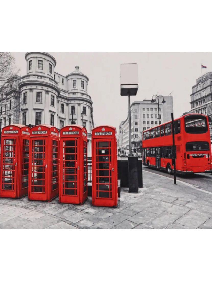 Алмазная мозаика на подрамнике «Британский красный»
