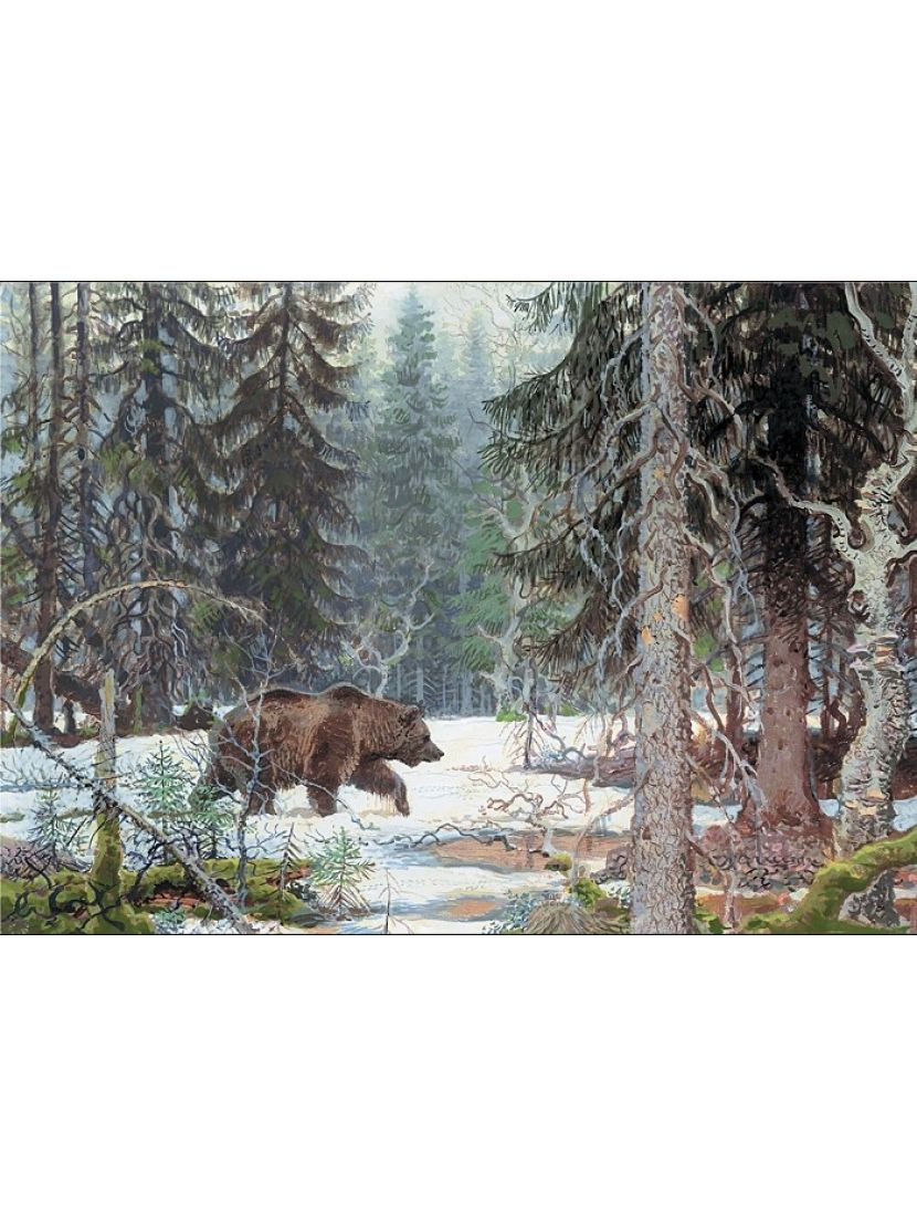 Алмазная мозаика на подрамнике «Лесной хозяин»