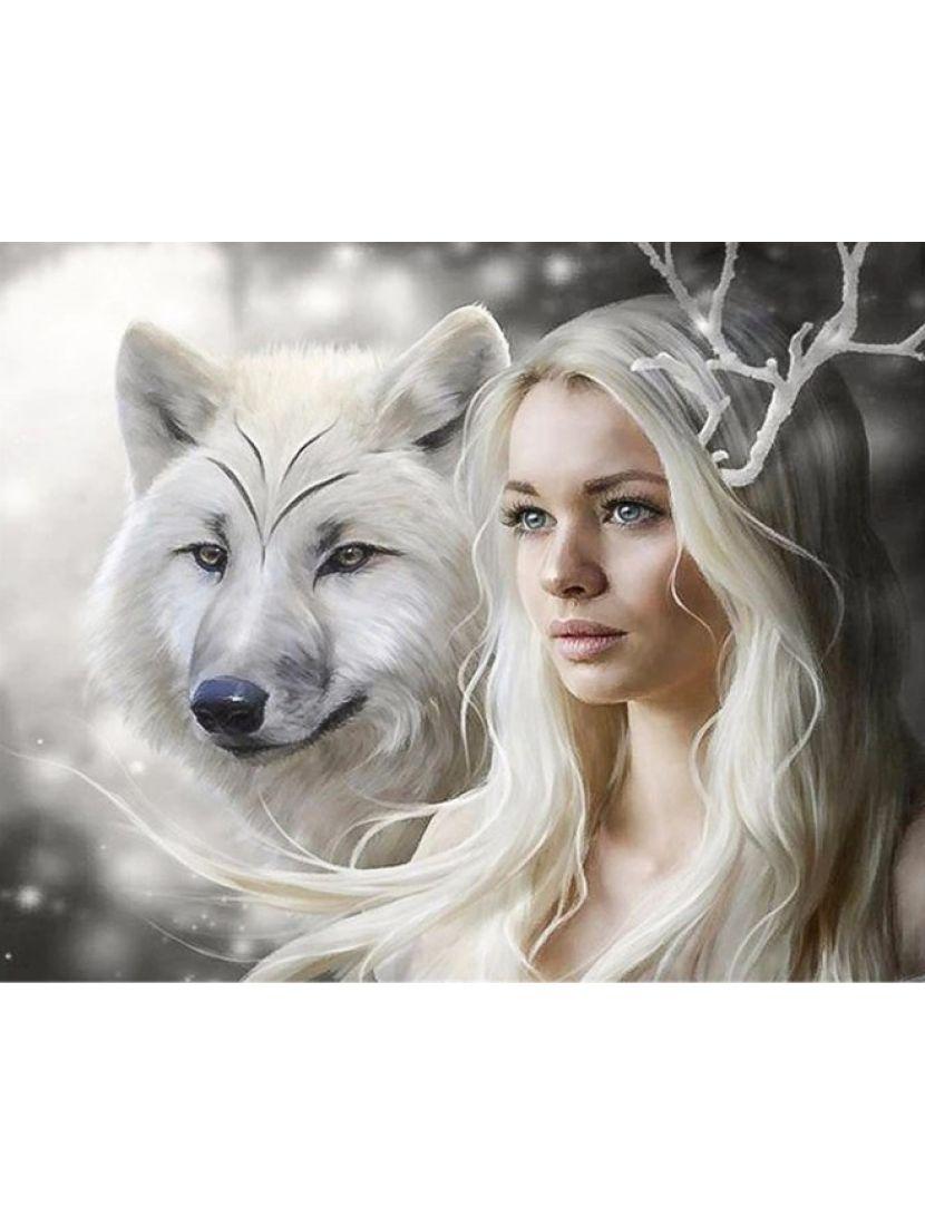 Алмазная мозаика на подрамнике «Снежная королева»
