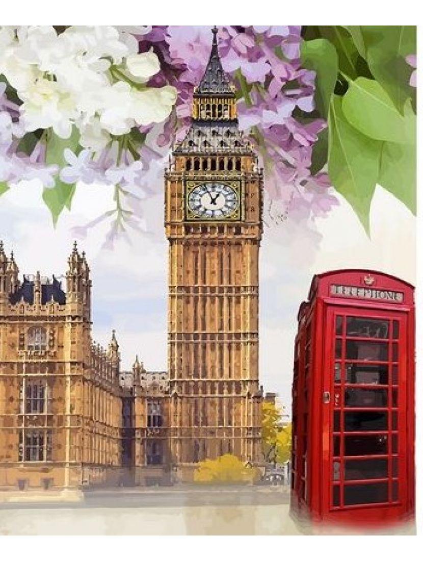 Алмазная мозаика на подрамнике «Лондонская весна»