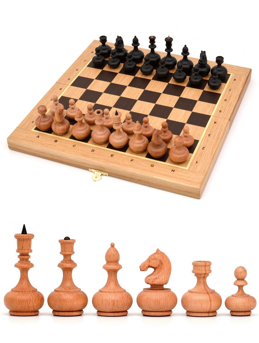 Шахматы складные «Бочата» доска панская из дуба 40x40 см