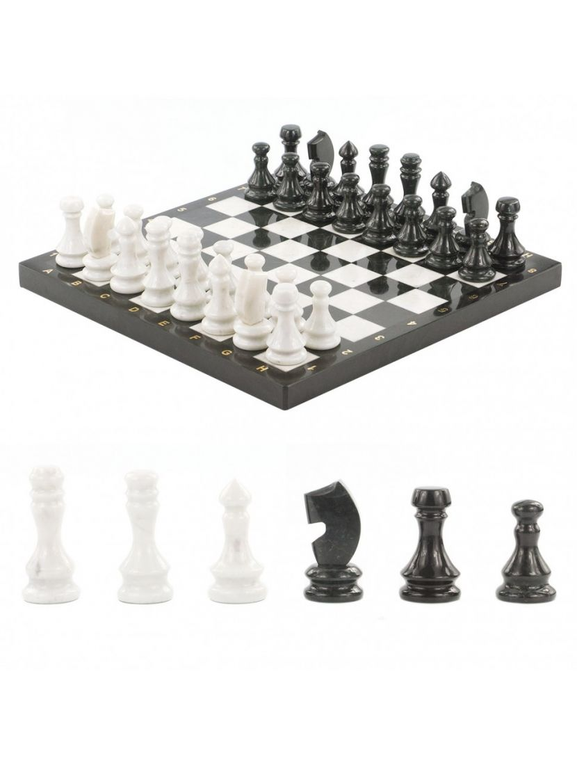 Шахматы каменные «Классические» мрамор-змеевик 38x38 см