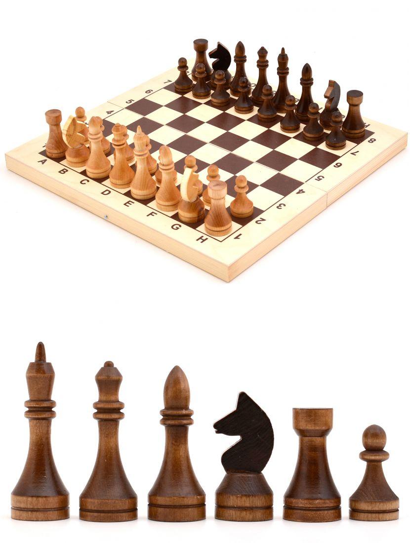 Шахматы «Владимирские» лакированные деревянные фигуры