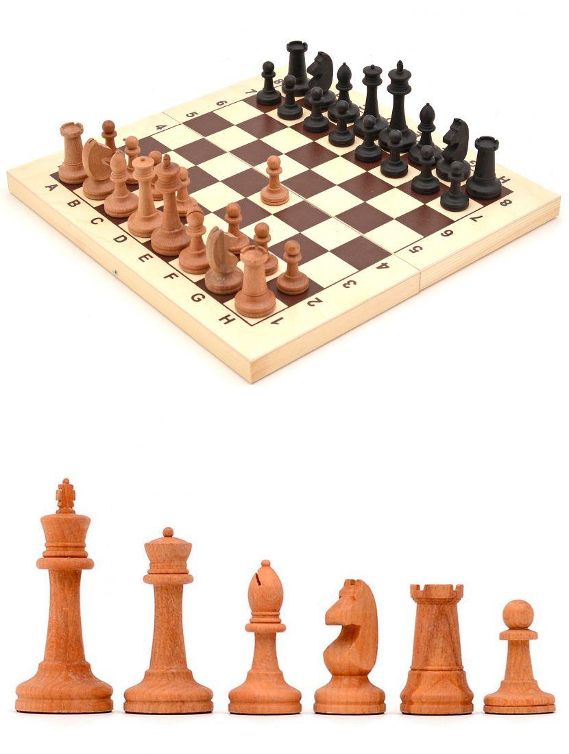 Шахматы «Купеческие» фигуры большие деревянные из бука