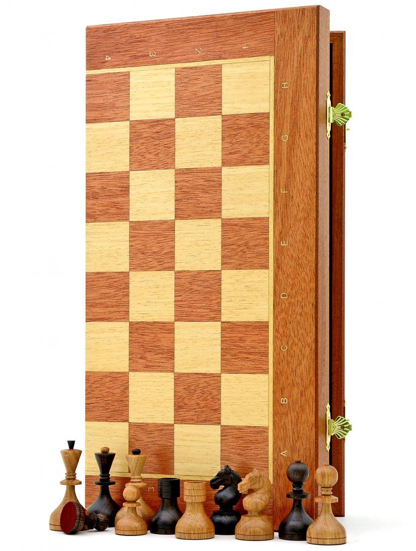 Шахматы «Дворянские махагон» доска панская