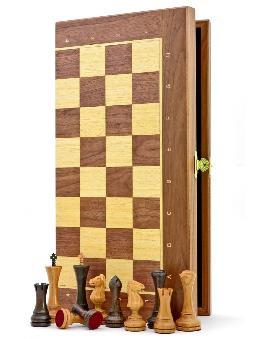 Шахматы «Феррум орех» доска панская