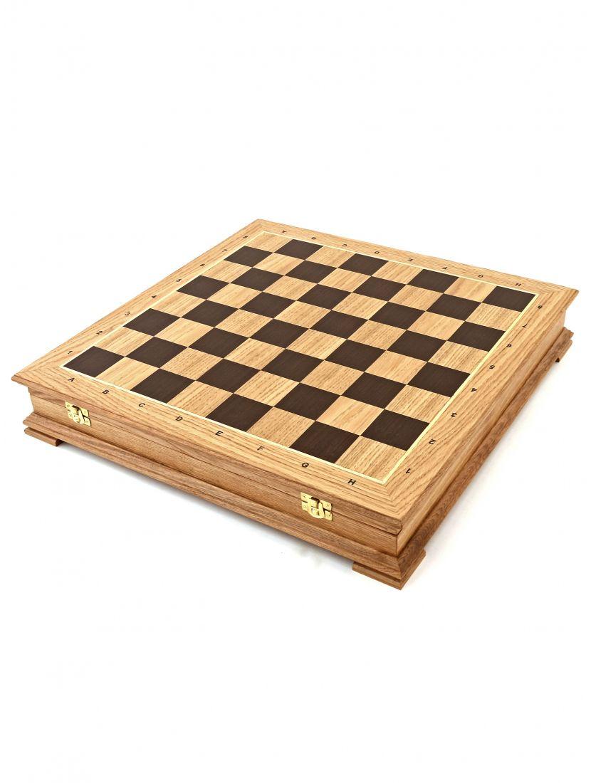 Шахматный ларец «Стаунтон» дуб 45 см