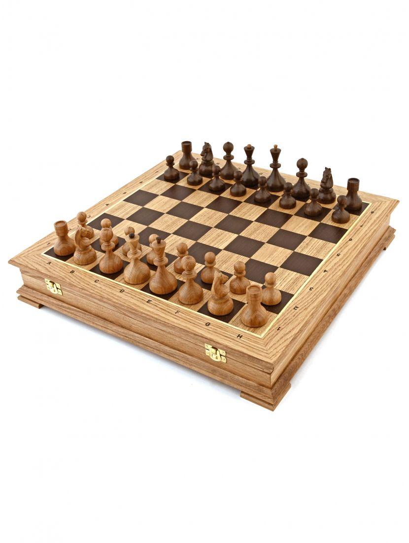 Шахматы «Дворянские дуб» ларец стаунтон