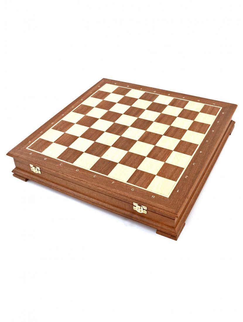 Шахматный ларец «Стаунтон» махагон 45 см