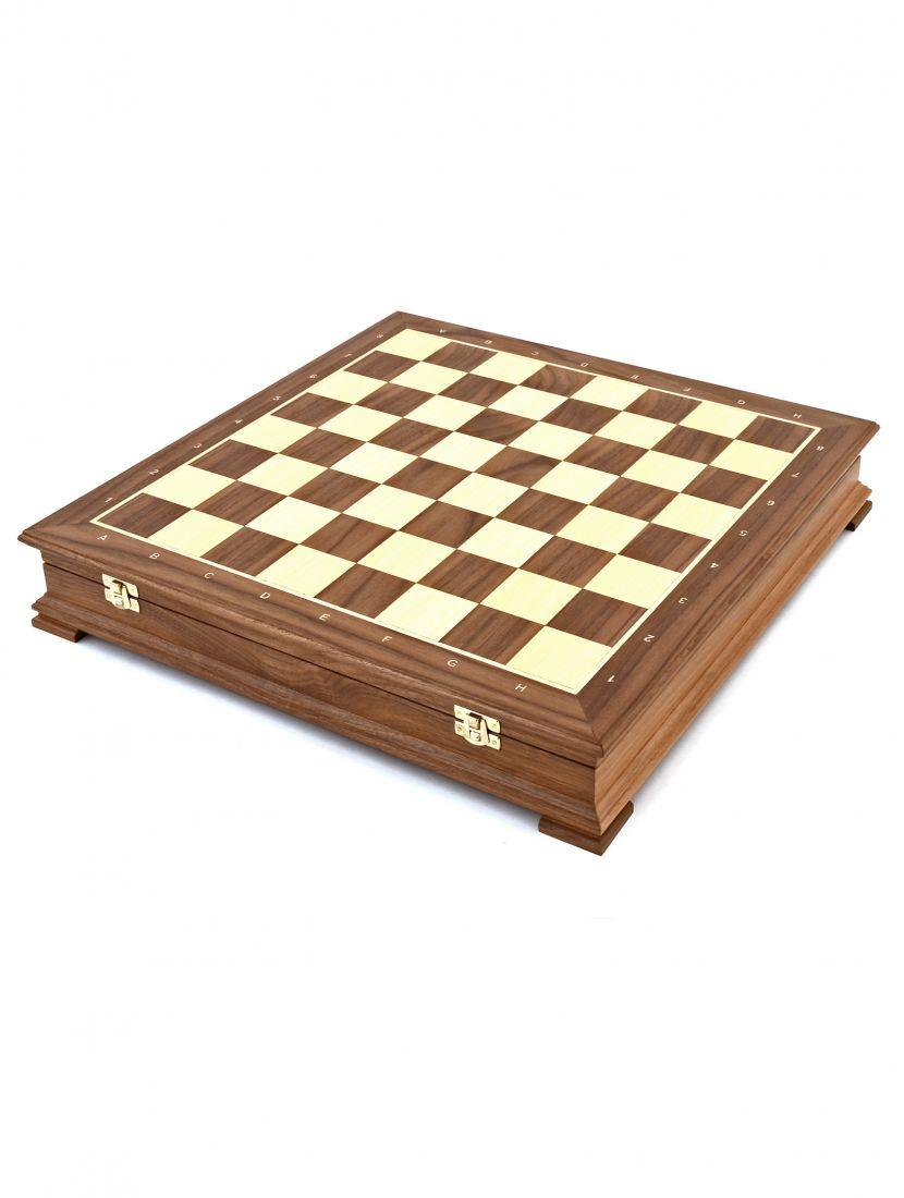 Шахматный ларец «Стаунтон» орех 45 см
